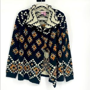 Love on a hanger Aztec design  Cardigan sweater